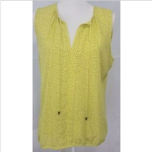 Ann Taylor Loft Women's Top Shirt Yellow Large